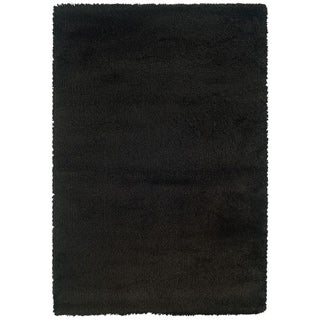 Manhattan Black Area Rug (5'3 x 7'9)