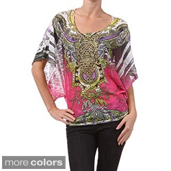 Tabeez Thin Sweater Rhinestone Top