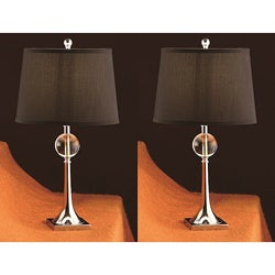 Crystal Stack 25-inch Table Lamps (Set of 2)