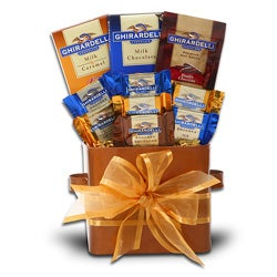 Taste of Ghirardelli Gift Box with Hot Chocolate and Chocolate Bars