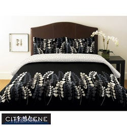 City Scene Gathering 2-piece Twin-size Duvet Cover Set