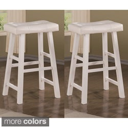 Montana 24-inch White Barstools (Set of 2)