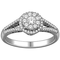 10k White Gold 1/2ct TDW Imperial Diamond Engagement Ring