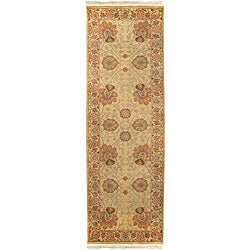 Hand-knotted Scoresby Semi-worsted New Zealand Wool Rug (2'6 x 8')