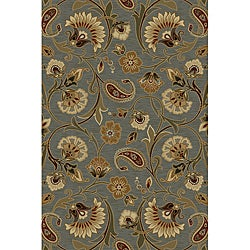 Infinity Collection Blue Area Rug (7&#39;10 x 10&#39;3)