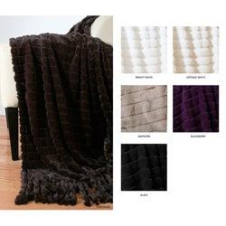 Lorraine Faux Fur Foxtail Throw