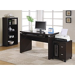 Cappuccino 48-inch Long Computer Desk