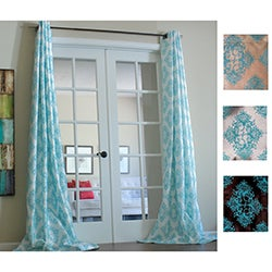 Zarya Grommet Flocked Curtain Panel 96 in