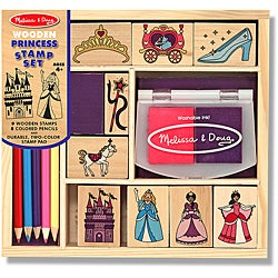 Melissa &amp; Doug Wooden Princess Stamp Set