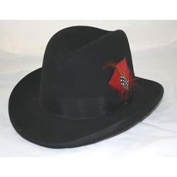 Ferrecci Men's Black Wool Godfather Hat