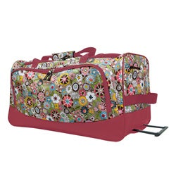 Olympia 'Tulip' 26-inch Fashion Rolling Upright Duffel Bag