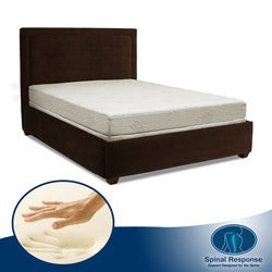Spinal Response Aloe Gel Memory Foam 8-inch Twin-size Smooth Top Mattress
