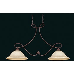 Island 2-light Rubbed Bronze Pendant