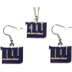 New York Giants Necklace and Dangle Earring Charm Set
