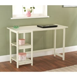 White Solid Wood Emory Desk