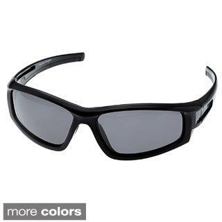 Chilis Men's 'Solvent' Polarized Wrap Sunglasses