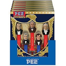 Pez 'Presidents of the USA Vol. 3 1845-1861' Assorted Candy Dispensers and Candy Rolls