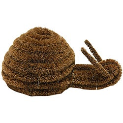 """Snail"" Coir Boot Coconut Brush Scraper"