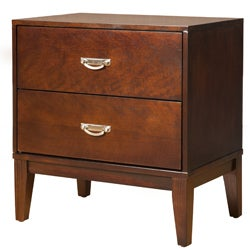 Enitial Lab Ridge Brown Cherry 2-Drawer Nightstand