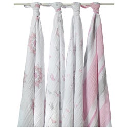 aden + anais Muslin Swaddle Blankets in For the Birds (Pack of 4)