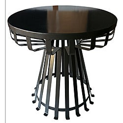 20-inch Flat Top Iron Side Table