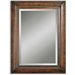 Rowena Distressed Mahogany Framed Mirror