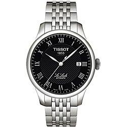 Tissot Men's 'Le Locle' Textured Black Dial Watch