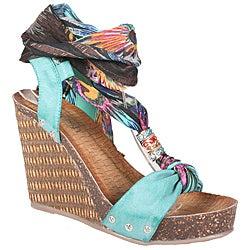 Refresh by Beston Women's 'Shania-01' Platform Wedge Sandals