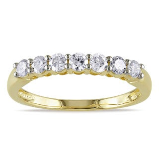 Miadora 14k Two-tone Gold 1/2ct TDW Certified Diamond Anniversary Ring (G-H, SI1-SI2)