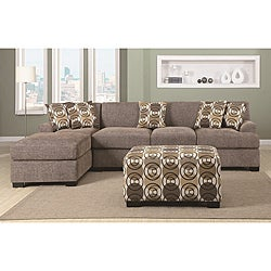 Ash Slate Linen Sectional Set