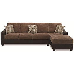 Cocoa Two-tone Sectional Set