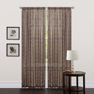 Lush Decor Brown 84-inch Leopard Curtain Panel