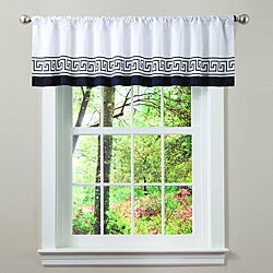 Lush Decor White/ Black Metropolitan Valance