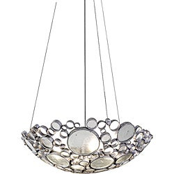 Fascination 4-light Clear Bottle Glass Pendant