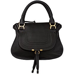 Chloe 'Marcie' Small Black Leather Satchel