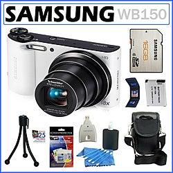 Samsung WB150 14.2MP Digital Camera with 16GB Kit