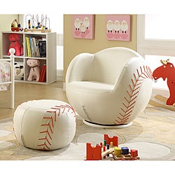 Youth Baseball Chair and Ottoman