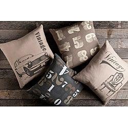 Vintage Decorative 18-inch Pillows (Set of 4)