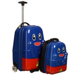 Travel Buddies Rusty Robot 2-piece Kids Hardside Carry On Luggage Set