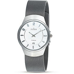 Skagen Men's Grey Dial Titanium Watch