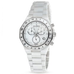 Skagen Women's C913SWXC Ceramic Round White Bracelet Watch
