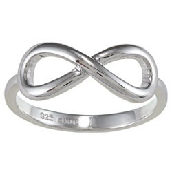 La Preciosa Sterling Silver Infinity Design High-polish Ring
