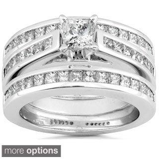Annello 14k Gold 2ct TDW Diamond 3-piece Bridal Ring Set (H-I, I1-I2)