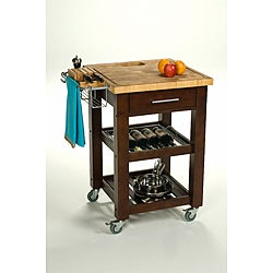 Chris &amp; Chris 24x24-inch Espresso Finish Pro Chef Kitchen Work Station