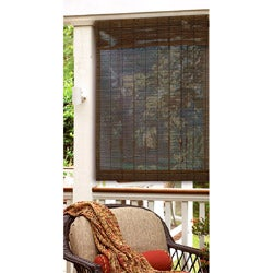 31x72 inch Privacy Matchstick Roman Shade in Cocoa