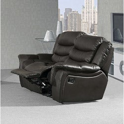 Casanova Faux Leather Brown Dual Reclining Loveseat