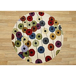 Hand-made 'Metro' New Zealand Wool Rug (6' Round)