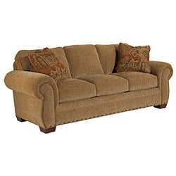 Broyhill Casey Bark Sofa and Accent Pillows