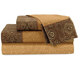 Croscill Home Fashions Cognac Burgess 4-piece Sheet Set