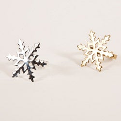 Snowflake Shape Napkin Rings (Set of 4)